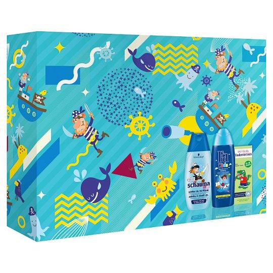 Multibrand Dětská Vánoční dárková sada Fa Kids boy SG+Schauma Kids boy SHP+Vademecum Junior Apple