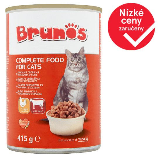 Brunos Pieces with Poultry and Beef in Sauce 415g