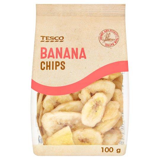 Tesco Banana Chips 100g