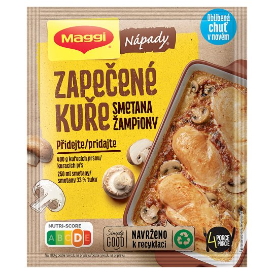 MAGGI Nápady Baked Chicken with Mushrooms and Cream Bag 30g