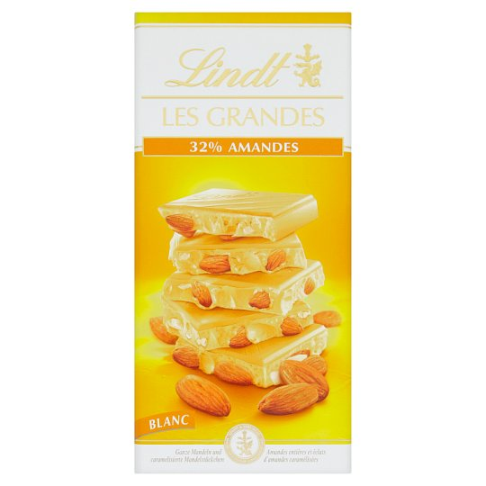 Lindt Les Grandes White Chocolate with Almonds 150g