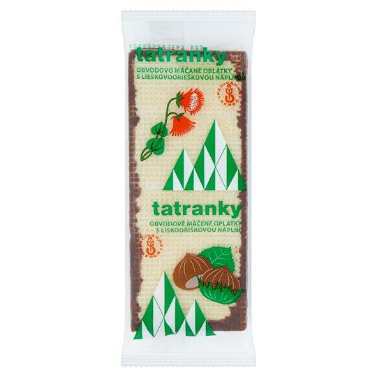 Pečivárne Sereď Tatranky Crispy Wafers with Hazelnut Cream Filling in Cocoaq Coating 33g