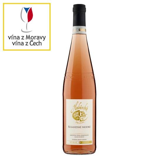 Habánské Sklepy Rulandské modré jakostní víno odrůdové suché růžové 0,75l