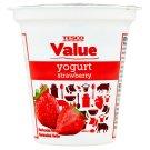 Tesco Value Jogurt jahodový 125g
