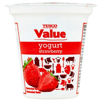 Tesco Value Yogurt Strawberry 125g