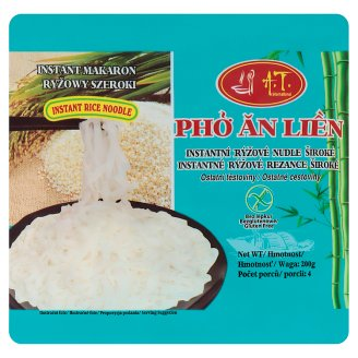A.T. International Instantní rýžové nudle široké 200g