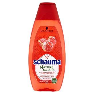 Schauma Nature Moments šampon pro ochranu barvy a lesk šťavnatá malina a slunečnicový olej 400ml