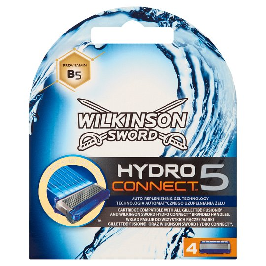 Wilkinson Sword Hydro Connect 5 Replacement Heads with 5 Blades 4 pcs