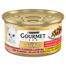 GOURMET Gold Pieces in Juice with Salmon and Chicken 85g