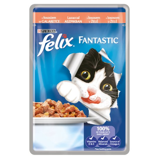 FELIX Fantastic with Salmon in Jelly 100g