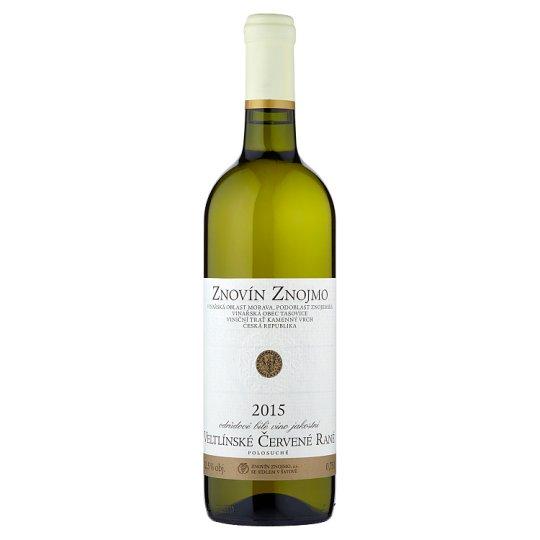 Znovín Znojmo Veltínské červené rané odrůdové bílé víno jakostní polosuché 0,75l