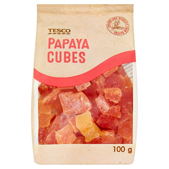 Tesco Papaya Cubes 100g