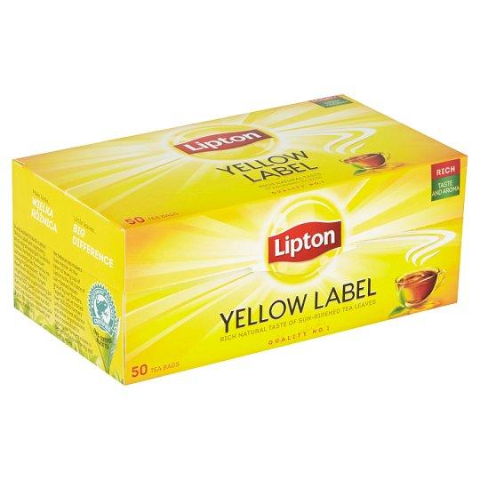 Lipton Černý aromatizovaný čaj Yellow label 50 sáčků