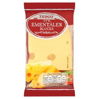 Tesco Ementaler Cheese Block 45 % 250g