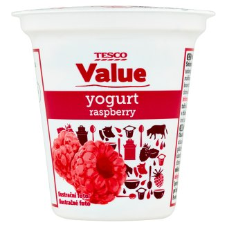 Tesco Value Jogurt malinový 125g