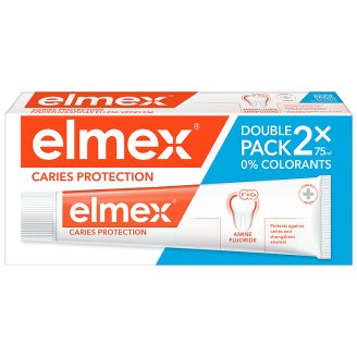 elmex Caries Protection Fluoridová zubní pasta 2 x 75ml