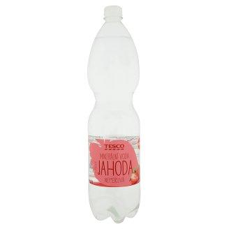 Tesco Minerální voda neperlivá s příchutí jahoda 1,5l