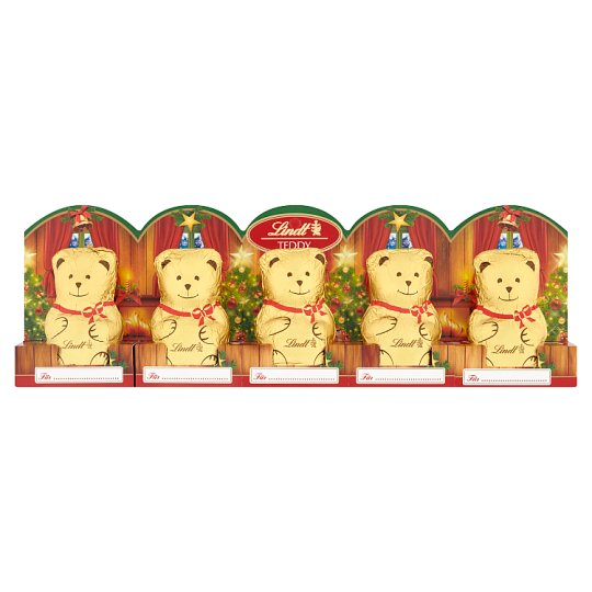 Lindt Teddy Hollow Figurines from Milk Chocolate 5 x 10g