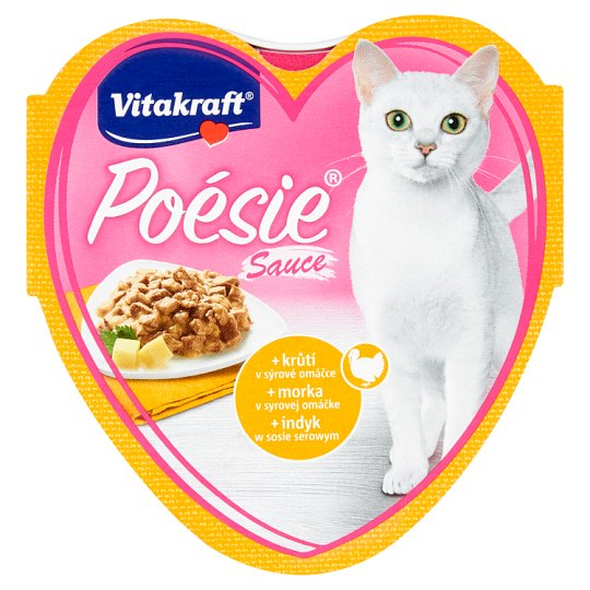 Vitakraft Poésie Sauce +Turkey in Cheese Sauce 85g