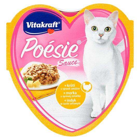 Vitakraft Poésie Sauce + krůtí v sýrové omáčce 85g