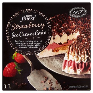 Tesco Finest Strawberry Ice Cream Cake 1L