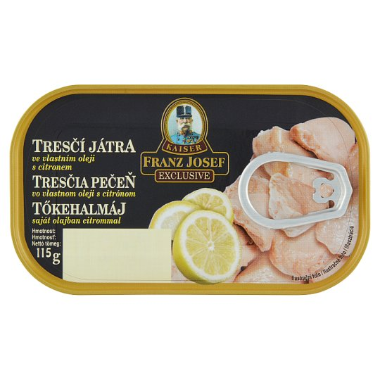Kaiser Franz Josef Exclusive Cod Liver in Own Oil with Lemon 115g