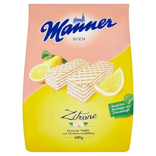 Manner Křupavé oplatky s krémovou citrónovou náplní 400g