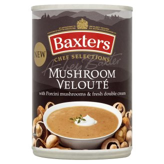 Baxters Velvet Mushroom Soup with Mushrooms and Fresh Double Cream 400g
