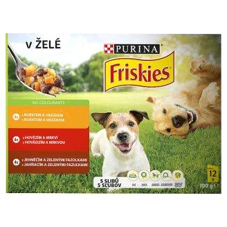FRISKIES PES VITAFIT výběr s kuřetem, s hovězím a jehněčím v želé 12 x 100g