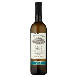 Víno Nitra Selection Riesling Quality Dry White Wine 0.75 L