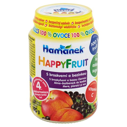Hamánek Happy Fruit S broskvemi a bezinkou 190g