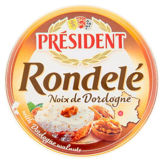 Président Rondelé Soft Cheese with Walnuts of Dordogne Region 125g