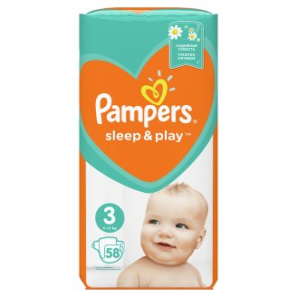 Pampers Sleep&Play V3, 58 Diapers, 6–10 kg