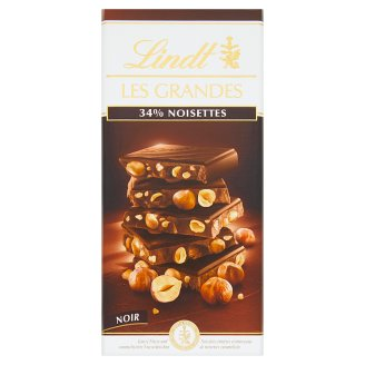 Lindt Les Grandes Dark Chocolate with Hazelnuts 150g