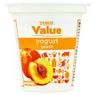 Tesco Value Yogurt Peach 125g