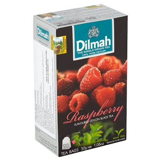 Dilmah Raspberry Flavoured Ceylon Black Tea 20 x 1.5g