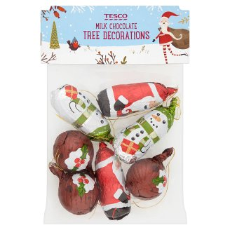 Tesco Milk Chocolate Tree Decorations 100g