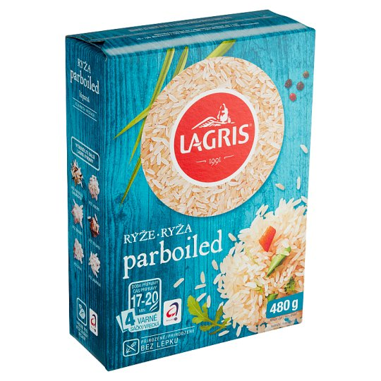 Lagris Long-Grain Parboiled Boil in Bag Rice 4 pcs 480g