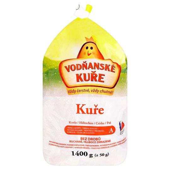 Vodňanské Kuře Chicken without Offal, Gutted, Deep-Frozen 1400g