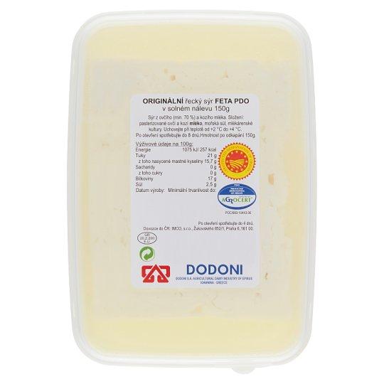 Dodoni Originální řecký sýr Feta v solném nálevu 150g