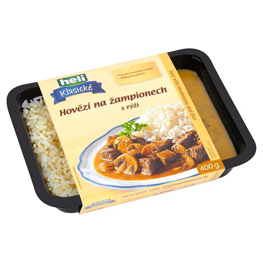 Heli Klasické Beef with Mushrooms with Rice 400g