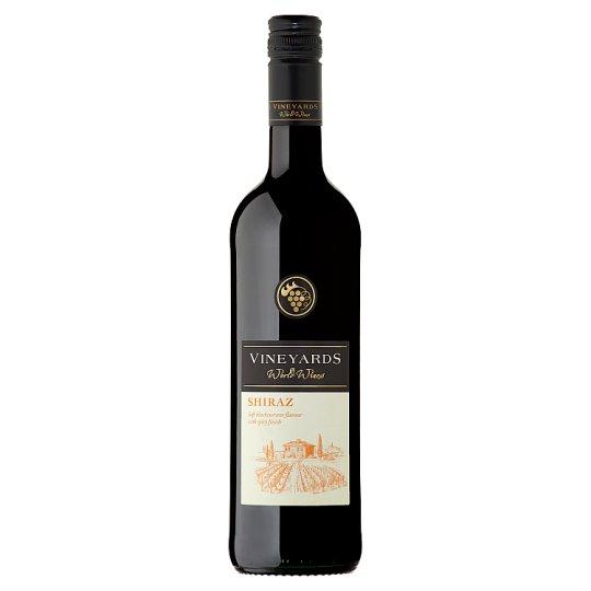 Vineyards World Wines Shiraz červené víno suché 750ml