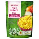 Tesco Předvařená rýžže dlouhozrnná loupaná Basmati s cibulí 250g