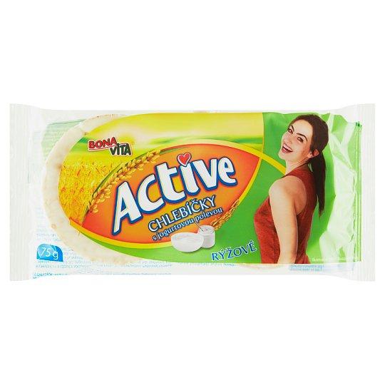 Bona Vita Active Chlebíčky rýžové s jogurtovou polevou 75g