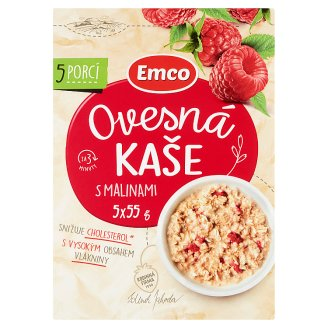 Emco Oatmeal with Raspberries 5 x 55g