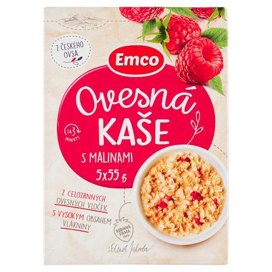Emco Oatmeal with Raspberries 5 x 55g