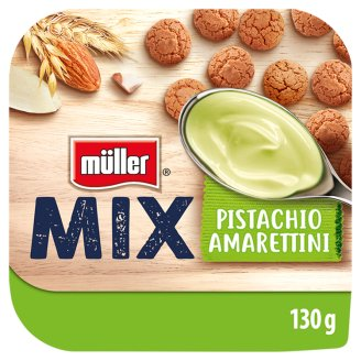 Müller Mix Yogurt with Pistachio and Amarettini 130g