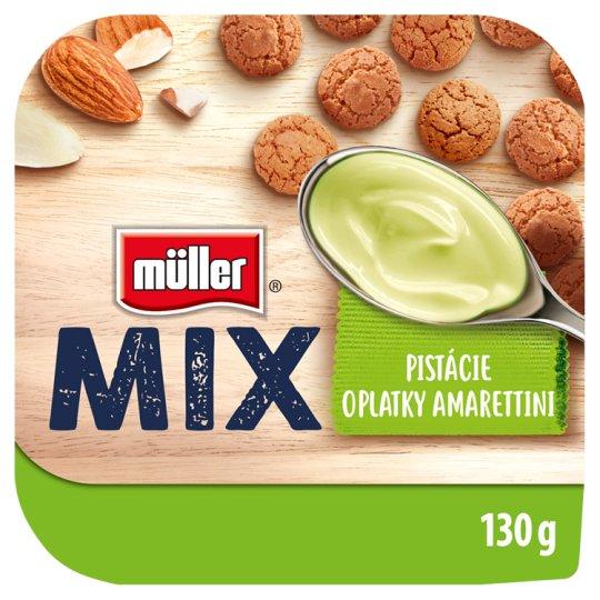 Müller Mix Amarettini jogurt s pistáciovou příchutí 130g