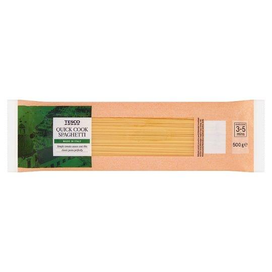 Tesco Italian Spaghetti Pasta Semolina Dried 500g