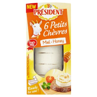 Président Fresh Cheese Made from Goat Milk with Honey 100g